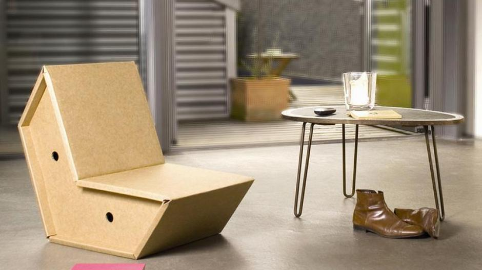 Wohnen Möbel Aus Pappkarton Schick Und Umweltfreundlich Bauen