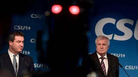 Werden wohl keine Freunde mehr: Markus Söder und Horst Seehofer am Montag nach der Sitzung des CSU-Vorstands.