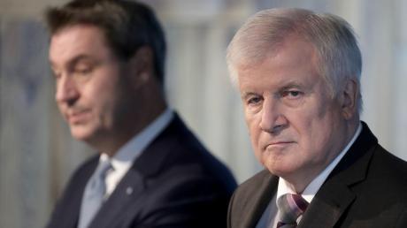 Kein Spaß: Ministerpräsident Markus Söder (li.) und CSU-Chef Horst Seehofer bei einer Pressekonferenz diese Woche nach der Sitzung des CSU-Vorstandes.