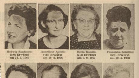 Erstochen, erschlagen und erwürgt: In Augsburg und Umgebung wurden ab 1966innerhalb von neun Jahren 14 Frauen getötet. Die Fälle sind bis heute ungeklärt.