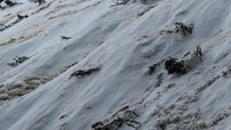 1500 Tonnen Schnee waren laut Experten bei dem Unglück im Ammergebirge in Bewegung.