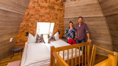 Ein besonderer Schlafplatz: Im Baumhaushotel von Katharina Zinnecker und Norbert Bechteler erleben Besucher Urlaub auf dem Bauernhof etwas anders als gewohnt.