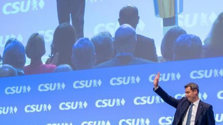 Mit 91,3 Prozent der gültigen Stimmen ist Markus Söder am Freitag erneut zum Parteichef der CSU gewählt worden.