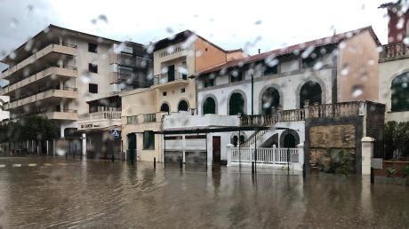Erst vergangene Woche lösten sintflutartige Regenfälle Überschwemmungen auf Mallorca aus, so auch im Dorf Sollar.