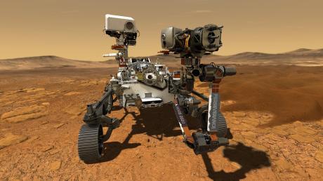 """Der Nasa-Rover """"Perseverance"""" soll mit Daten aus dem Nördlinger Ries nach Spuren früheren Lebens suchen."""