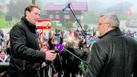 Nach über 47 Jahren hat am Mittwochabend erstmals wieder ein österreichischer Bundeskanzler das Kleinwalsertal besucht.