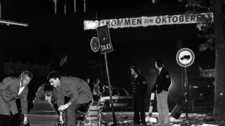 Der Tatort nach dem Attentat auf dem Oktoberfest. Am 26. September 1980 starben dort 13 Menschen.