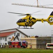 Auf einer Baustelle im Gewerbegebiet von Denklingen (Landkreis Landsberg) starben im Oktober 2020 vier Arbeiter bei einem Unfall.
