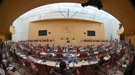 Ein Blick ins Innere des bayerischen Landtags.