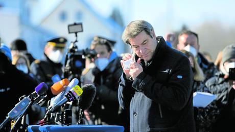Ministerpräsident Markus Söder (CSU) scheint zunehmend Probleme zu haben, Partei und Fraktion auf Kurs zu halten.
