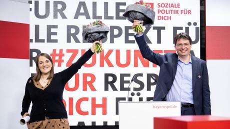 Die neu gewählten Landesvorsitzenden der Bayern SPD: Ronja Endres und Florian von Brunn.