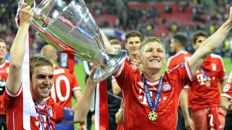 Bastian Schweinsteiger und Philipp Lahm feierten 2013 ihren größten Triumph im Trikot des FC Bayern.