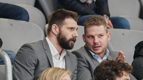 Bei uns im Podcast: AEV-Kapitän Steffen Tölzer (rechts). Hier im Bild mit Henry Haase.