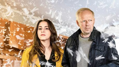 Ermitteln zum zweiten Mal gemeinsam im Kiel-Tatort: Almila Bagriacik (Mila Sahin) und Axel Milberg (Klaus Borowski).