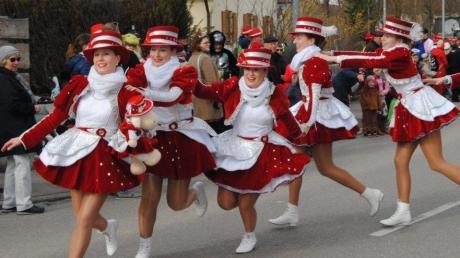 Unter anderem in Wehringen wurde am Wochenende Fasching gefeiert.