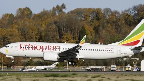 Eine Boeing 737 Max der Ethiopian Airlines hebt vom Flughafen Seattle ab. Foto: Preston Fiedler/AP