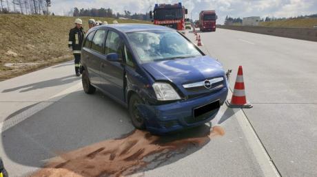 Zu einem Unfall kam es auf der A8 zwischen Odelzhausen und Adelzhausen.