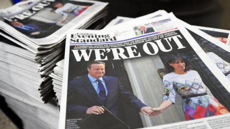 Nach dem Brexit-Referendum beherrschte der geplante EU-Austritt nicht nur die Titelseiten britischer Zeitungen. Foto: Andy Rain