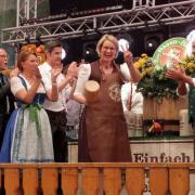 Plärrer Fassanstich Eröffnung, Binswanger-Zelt