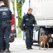 Polizeikontrolle A 8 Rasthof Leipheim