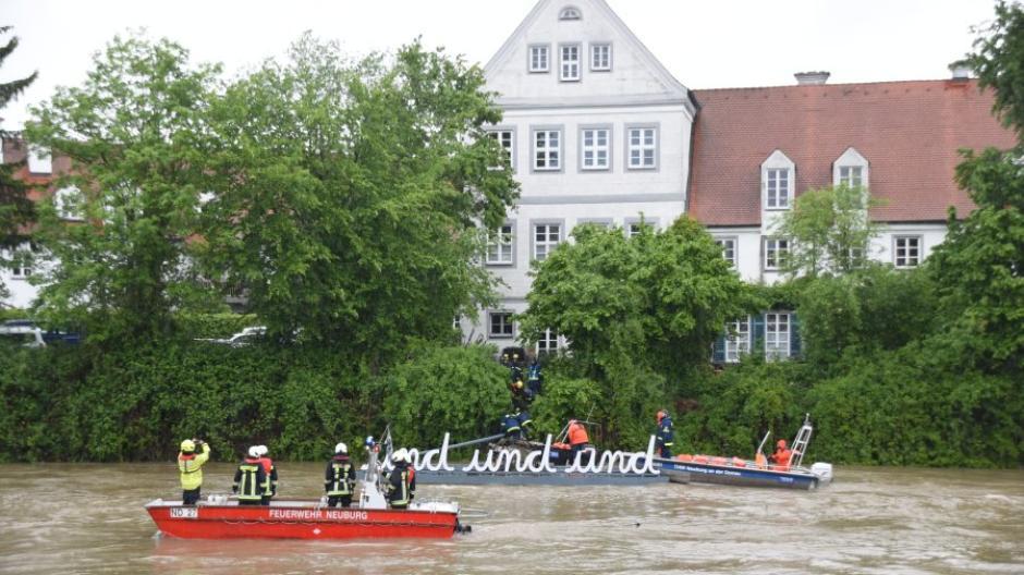 Hochwasser Neuburg Donau