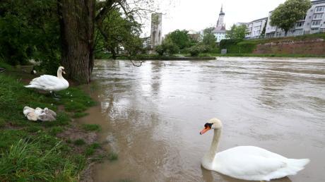 Die Doppelstadt hat das Hochwasser gut überstanden: Der Scheitelpunkt wurde am Mittwochmittag erreicht.
