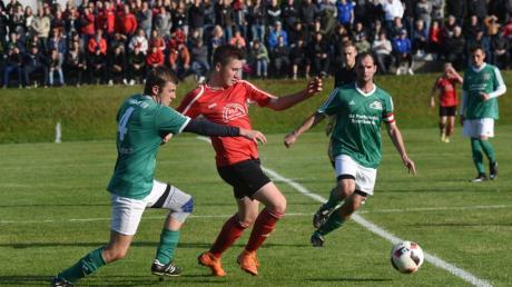 Fußbal Relegation.SV Lauber spielt gegen  FSV Buchdorf.