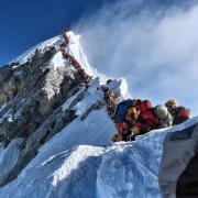 Zu viele Bergsteiger auf dem Mount Everest