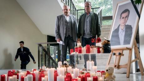 """Schenk (Dietmar Bär) und Ballauf (Klaus J. Behrendt) ermitteln nach einem Polizistenmord: Szene aus dem Köln-Tatort """"Kaputt"""", der heute im Ersten läuft-"""
