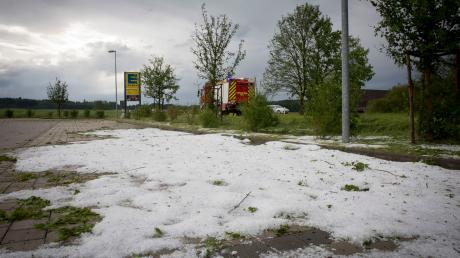 Sturmschäden im Landkreis Landsberg.