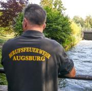 Badeunfall, Wertach, Fabrikkanal, Luftbad Göggingen,