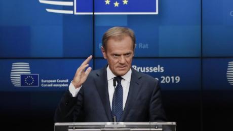 EU-Ratspräsident Donald Tusk in Brüssel. Foto: Virginia Mayo/AP