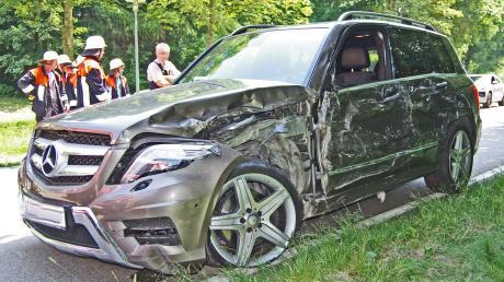 Bei einem Unfall zwischen Edelstetten und Langenhaslach wurde eine 56-Jährige schwer verletzt.