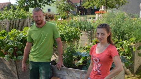 Rainer Delle zeigt am Sonntag seinen Garten im Rahmen des Tags der offenen Gartentür. Auch die Ziegen von Andrea Westhauser werden dann zu sehen sein.