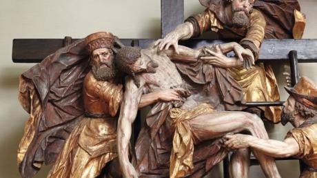 Ein bedeutendes Werk von Christoph Rodt: Die Kreuzabnahmegruppe, die in der Pfarrkirche in Neuburg an der Kammel zu sehen ist.