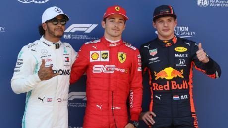 Leclerc vor Hamilton vor Verstappen: In dieser Reihenfolge kamen die drei schnellsten Runden zusammen. Hamilton wurde im Nachhinein noch strafversetzt.