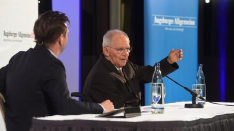 """Unser Chefredakteur Gregor Peter Schmitz hat im Live-Interview bei """"Augsburger Allgemeine Live"""" mit Bundestagspräsident Wolfgang Schäuble gesprochen."""