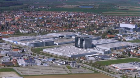 Aktuelles Luftbild der Firma Grob in Mindelheim.