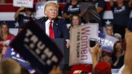 Donald Trump bei einer Wahlkampfkundgebung in Greenville. Foto: Carolyn Kaster/AP