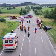 Unfall B 300 Ziemetshausen Muttershofen