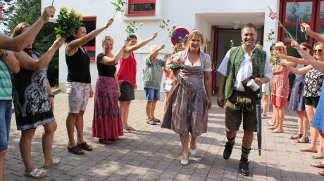 """Steffi und Stephan haben im Sielenbacher Rathaus """"Ja"""" gesagt."""