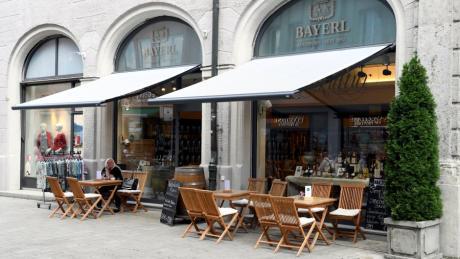 Die Weinkellerei Bayerl nahe des Rathausplatzes war die einzige Weinkellerei Augsburgs.
