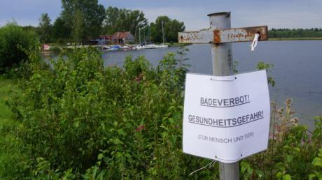 Der Mandichosee  bei Merching war bis Montag gesperrt.