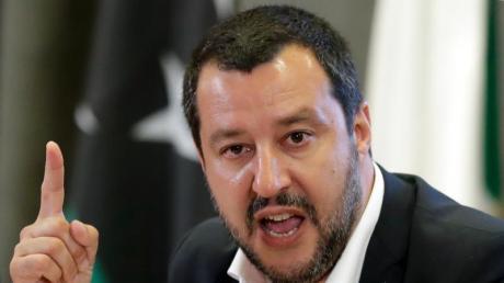 Italiens Innenminister Matteo Salvini ist zugleich Chef der Lega. Foto: Andrew Medichini/AP