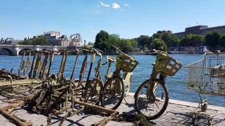 Immer wieder landen in Paris E-Scooter und Fahrräder in der Seine. Ein Kollektiv aus Studenten fischt den Müll aus dem Fluss.