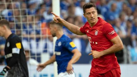 Robert Lewandowski erzielte alle fünf Bayern-Tore der laufenenden Saison. Foto: Federico Gambarini
