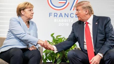 Merkel und Trump bei bilateralen Gesprächen am Rande des G7-Gipfels.