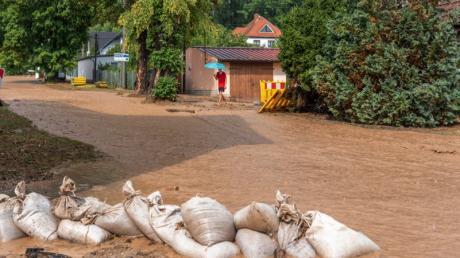 Unwetter verursacht Schlammlawine in Gumperda