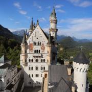 Blick auf das Schloss Neuschwanstein.