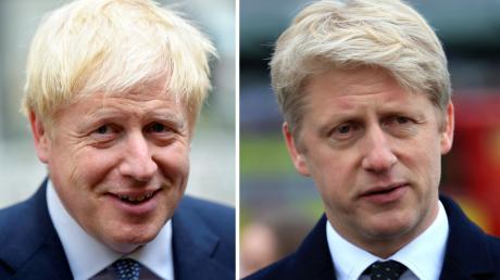 Premierminister Boris Johnson (links) und seinen Bruder Jo Johnson, ebenfalls Politiker. Jo Johnson hat sein Amt als Staatssekretär niedergelegt.